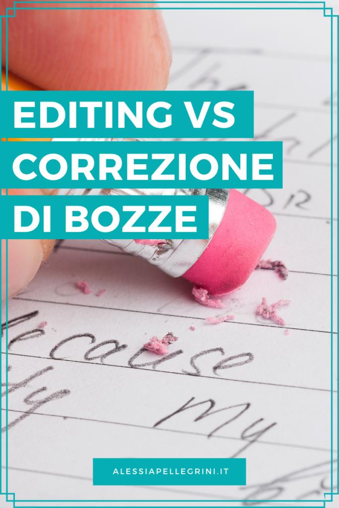 editing e correzione di bozze differenze